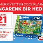 Hürriyet – Şirinler Puzzle 250 Parça